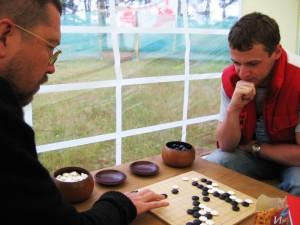 Николай Куликов и Игорь Гришин, Селигер-2008, игра Го