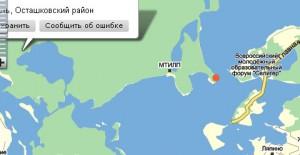 Сенека помечен на карте красным